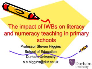 The impact of IWBs on literacy and numeracy teaching in primary schools