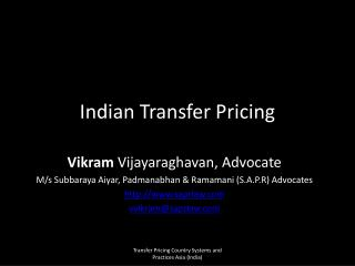 Indian Transfer Pricing