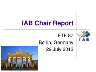 IAB Chair Report