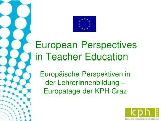 European Perspectives in Teacher Education