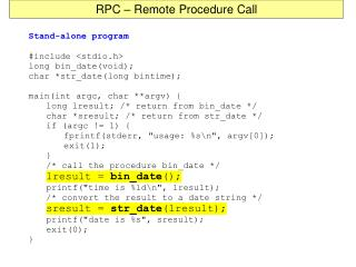 RPC – Remote Procedure Call