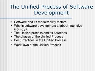 The Unified Process of Software Development