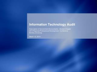 Information Technology Audit