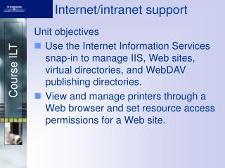 Internet/intranet support