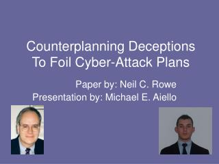 Counterplanning Deceptions To Foil Cyber-Attack Plans