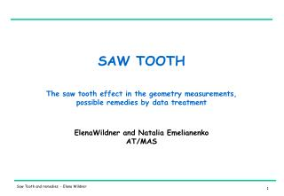 SAW TOOTH