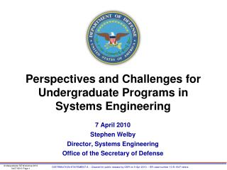 Perspectives and Challenges for  Undergraduate Programs in Systems Engineering
