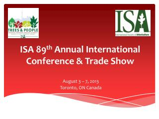 ISA 89 th  Annual International Conference & Trade Show