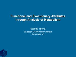 Functional and Evolutionary Attributes  through Analysis of Metabolism