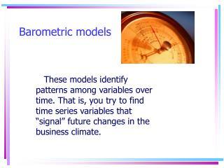 Barometric models