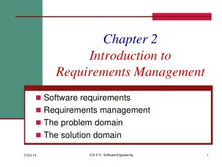 Chapter 2 Introduction to Requirements Management