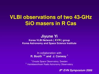 VLBI observations of two 43-GHz  SiO masers in R Cas