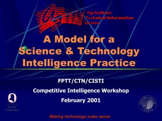 A Model for a  Science & Technology Intelligence Practice