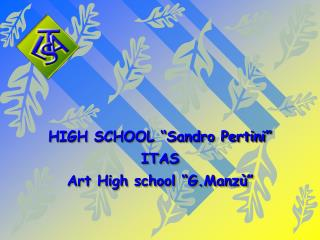 "HIGH SCHOOL ""Sandro Pertini"" ITAS Art High school ""G.Manzù"""