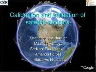 Calibration and validation of satellite sensors
