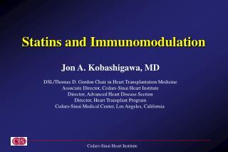 Statins and Immunomodulation