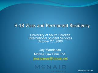 H-1B Visas and Permanent Residency