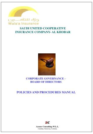 CORPORATE GOVERNANCE – BOARD OF DIRECTORS