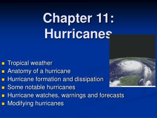 Chapter 11: Hurricanes