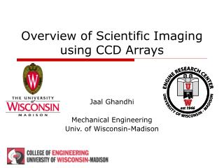 Overview of Scientific Imaging using CCD Arrays