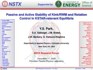 Passive and Active Stability of Kink/RWM and Rotation Control in KSTAR-relevant  Equilibria