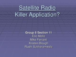 Satellite Radio Killer Application?
