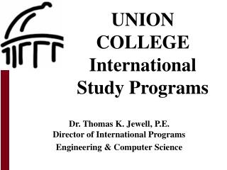 UNION COLLEGE International Study Programs