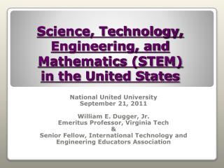 Science, Technology,  Engineering, and Mathematics (STEM)  in the United States
