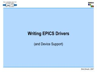 Writing EPICS Drivers
