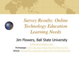 Survey Results: Online Technology Education Learning Needs