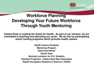 Workforce Planning Developing Your Future Workforce Through Youth Mentoring