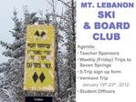 MT. LEBANON  SKI   BOARD CLUB