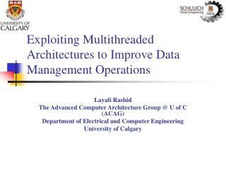 Exploiting Multithreaded Architectures to Improve Data Management Operations