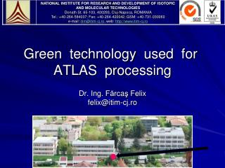 Green  technology  used  for   ATLAS  processing