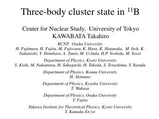 Three-body cluster state in  11 B
