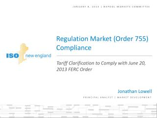 January 8, 2013 | NEPOOL markets committee