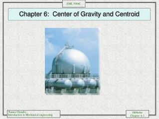 Chapter 6:  Center of Gravity and Centroid