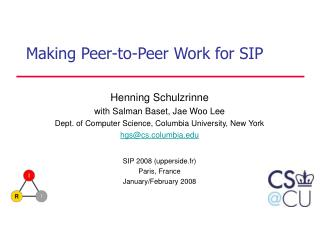 Making Peer-to-Peer Work for SIP