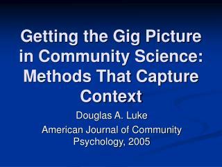 core values of community psychology