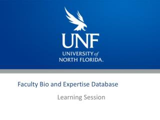 Faculty Bio and Expertise Database