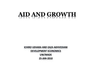 AID and GROWTH