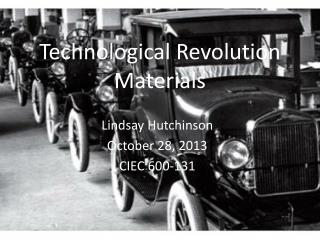 Technological Revolution Materials
