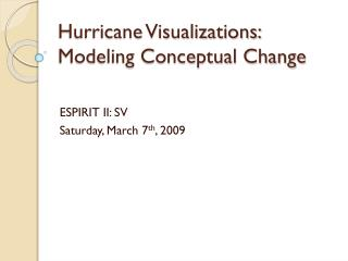 Hurricane Visualizations: Modeling Conceptual Change