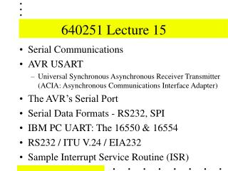 640251 Lecture 15