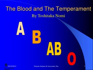 The Blood and The Temperament