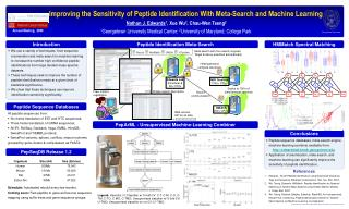 Improving the Sensitivity of Peptide Identification With Meta-Search and Machine Learning