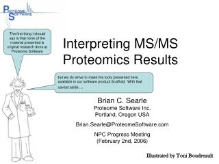 Interpreting MS/MS Proteomics Results