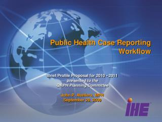 Public Health Case Reporting Workflow
