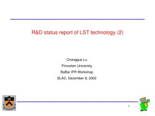R&D status report of LST technology (2)