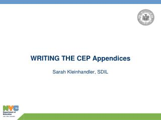 WRITING THE CEP Appendices